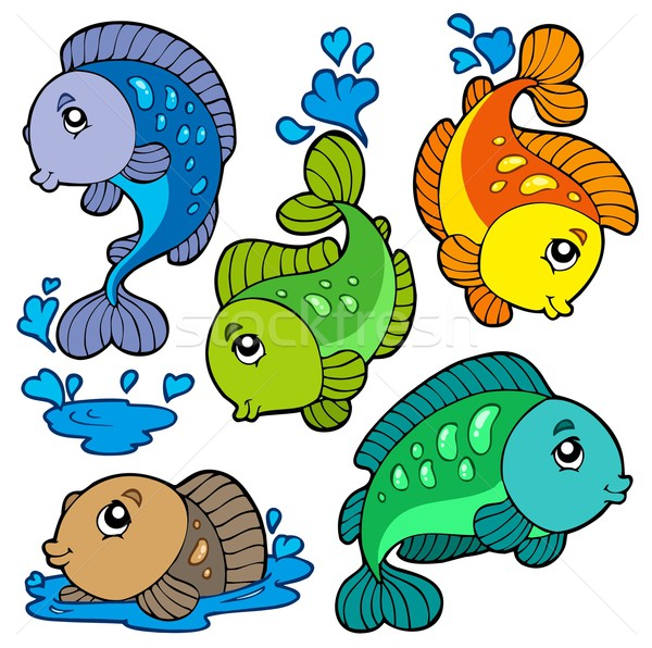 Freshwater fishes collection Stock photo © clairev