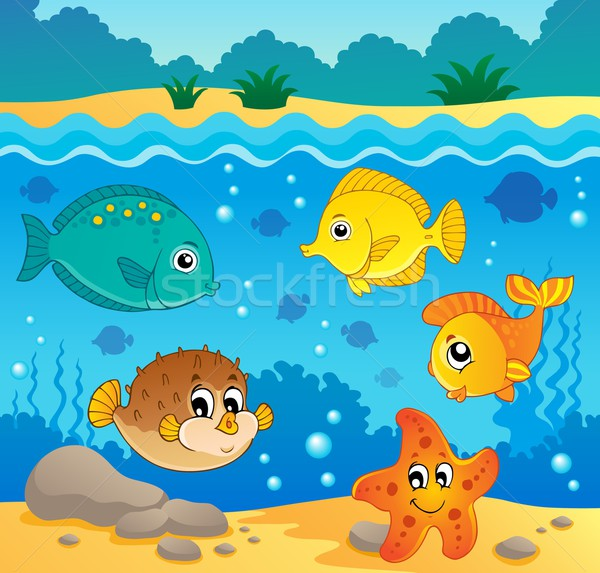Underwater ocean fauna theme 4 Stock photo © clairev