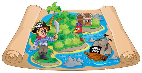 Pirate map theme image 4 Stock photo © clairev