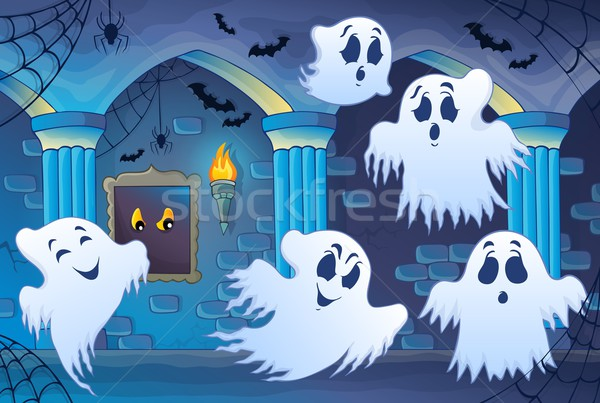 Haunted castle interior theme 4 Stock photo © clairev