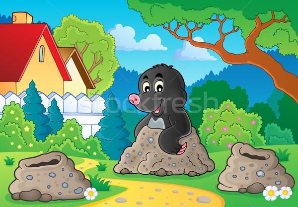 Happy mole theme image 2 Stock photo © clairev