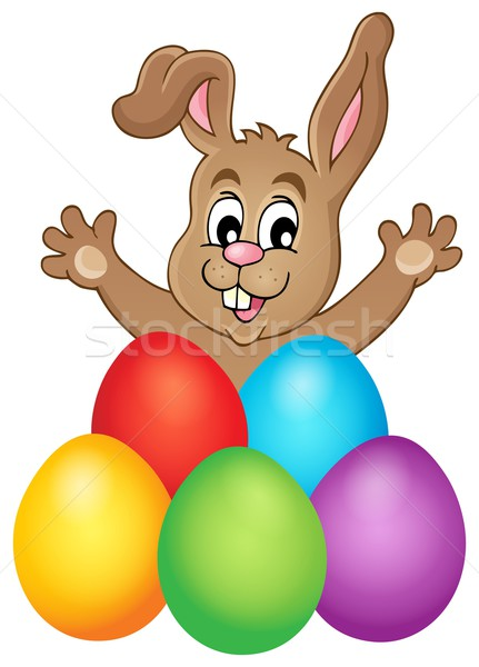 Jóvenes vacaciones huevos de Pascua Pascua diseno huevo Foto stock © clairev
