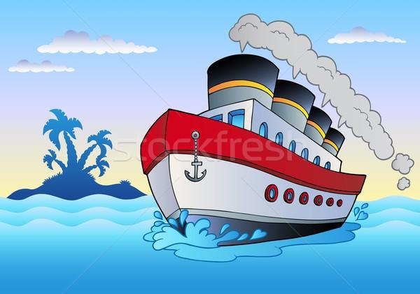 Parowiec żeglarstwo morza projektu metal sztuki Zdjęcia stock © clairev