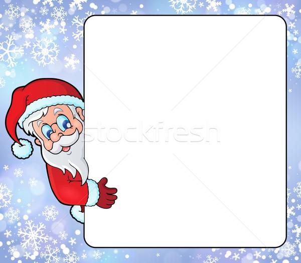 Frame with Santa Claus theme 8 Stock photo © clairev