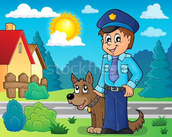 Policeman with guard dog image 3 Stock photo © clairev