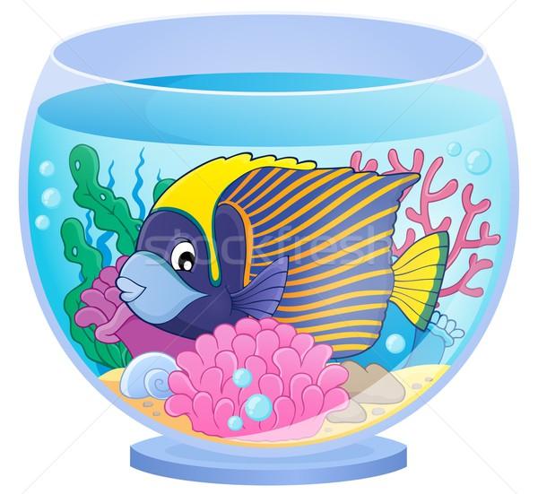 аквариум тема изображение рыбы искусства пузырьки Сток-фото © clairev