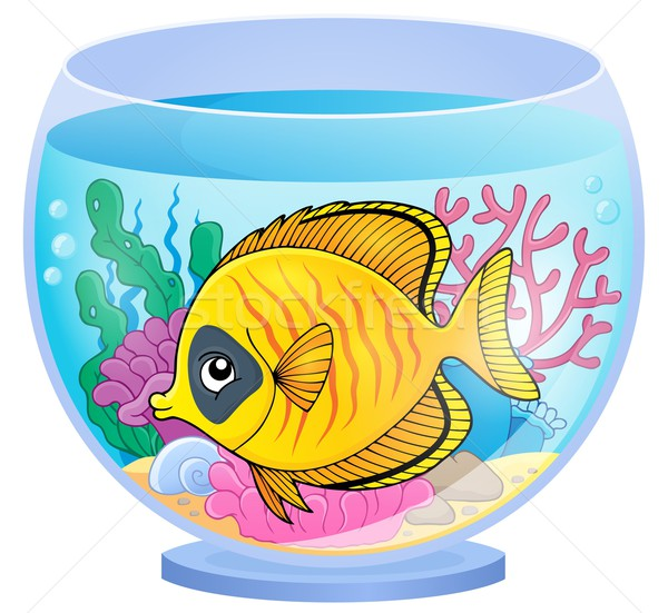 аквариум тема изображение рыбы завода подводного Сток-фото © clairev
