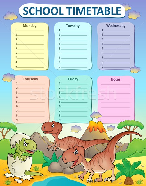 Weekly school timetable thematics 3 Stock photo © clairev