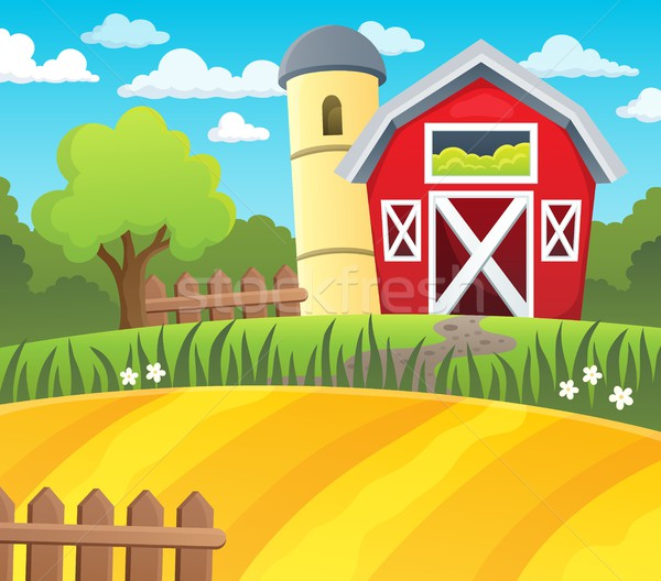 Farmland theme background 1 Stock photo © clairev