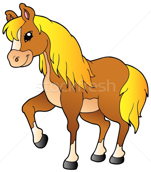 Cartoon walking horse Stock photo © clairev