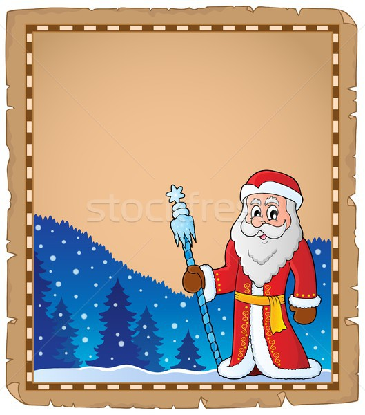 Father Frost theme parchment 6 Stock photo © clairev