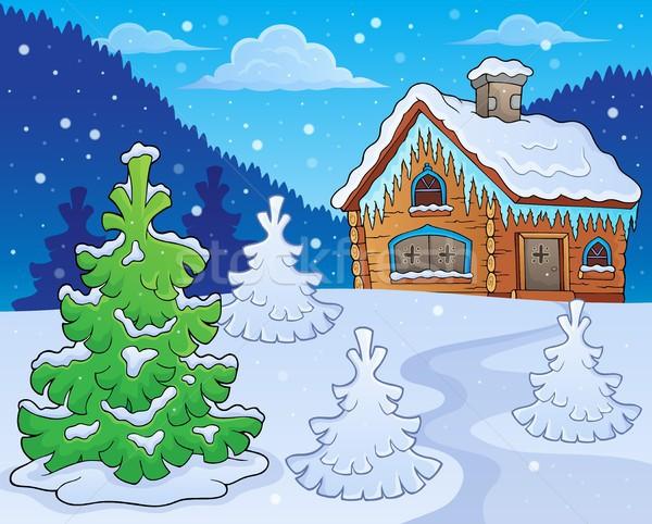 Winter cottage theme image 2 Stock photo © clairev