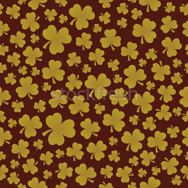 Three leaf clover seamless background 7 Stock photo © clairev