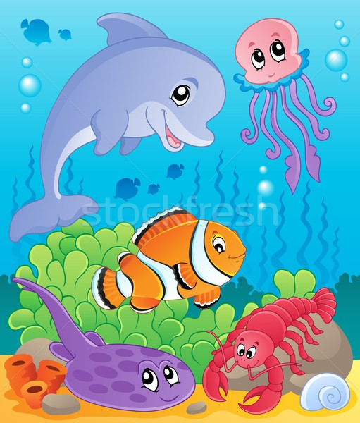 Image with undersea theme 5 Stock photo © clairev