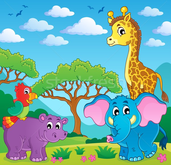 Cute African animals theme image 5 Stock photo © clairev