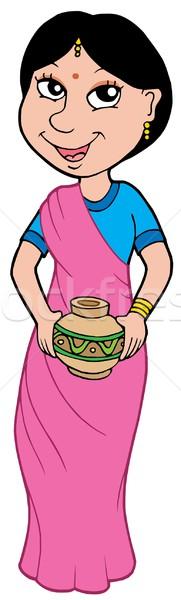 Asian girl in sari Stock photo © clairev