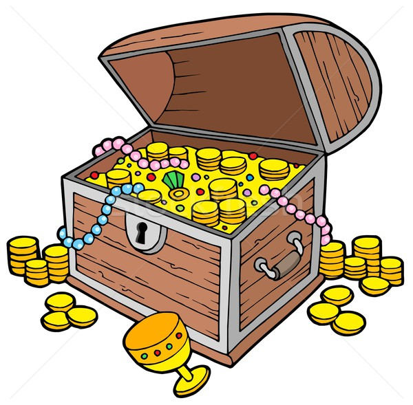 Stock photo: Open treasure chest