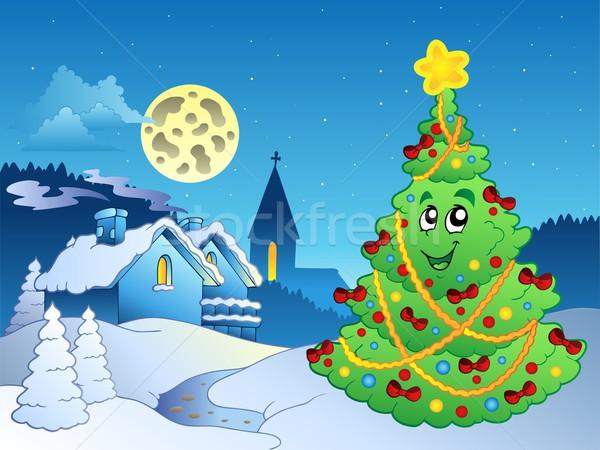 Merry Christmas theme 3 Stock photo © clairev