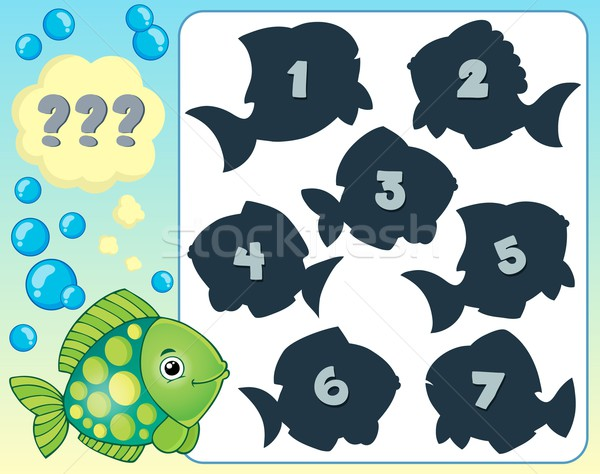 Fish riddle theme image 2 Stock photo © clairev