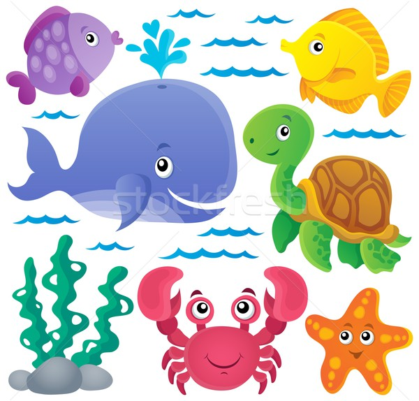 Ocean fauna thematic collection 1 Stock photo © clairev