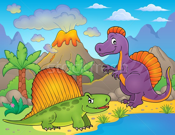 Image with dinosaur thematics 1 Stock photo © clairev