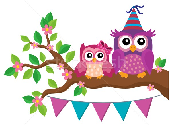 Party owls theme image 2 Stock photo © clairev