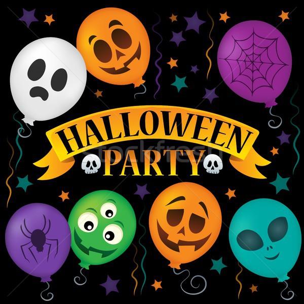 Halloween buli felirat téma kép ősz Stock fotó © clairev