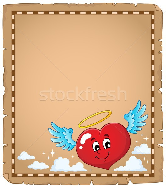 Valentine heart topic parchment 3 Stock photo © clairev