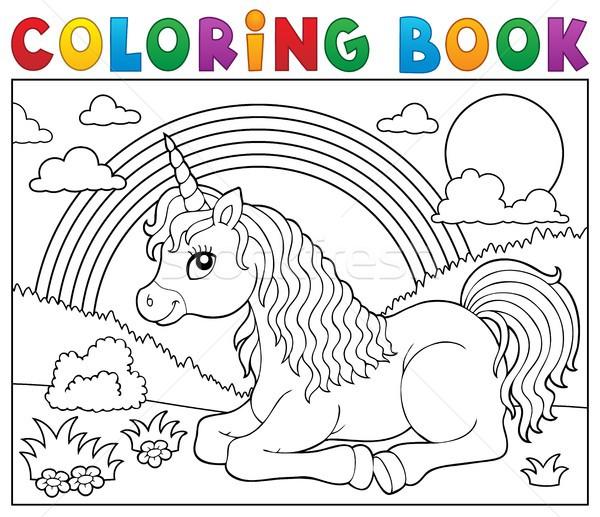 Boyama Kitabı Kitap Sanat Hayvan çizim çayır Vektör