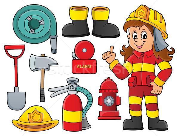 Firefighter theme set 1 Stock photo © clairev
