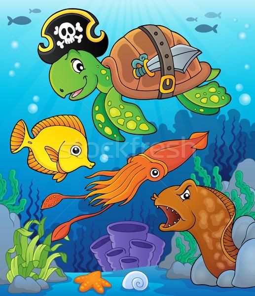 Pirate turtle theme image 4 Stock photo © clairev