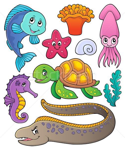 Sea life theme collection 1 Stock photo © clairev