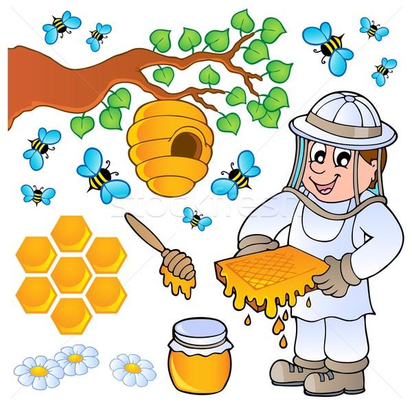 Mel de abelha coleção homem natureza arte trabalhando Foto stock © clairev