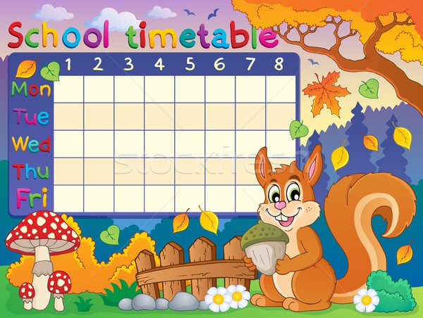 School timetable thematic image 6 Stock photo © clairev