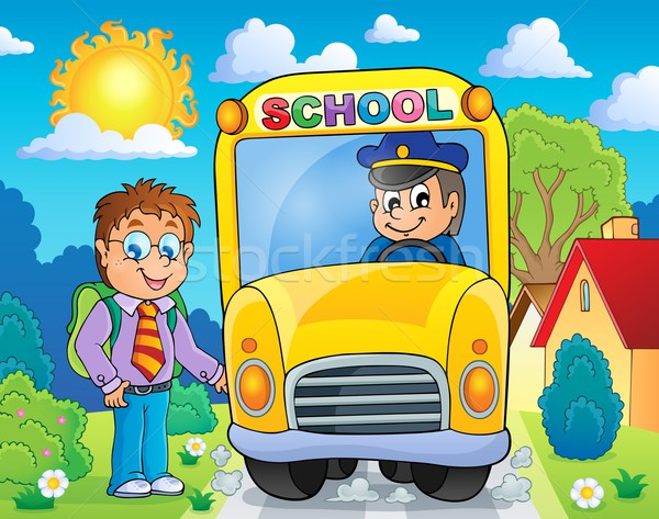 Image with school bus topic 4 Stock photo © clairev