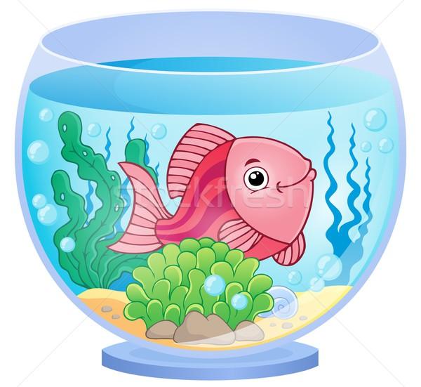 аквариум изображение рыбы искусства завода подводного Сток-фото © clairev