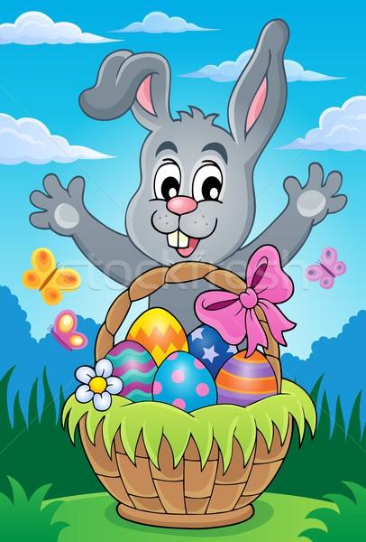 Easter basket theme image 4 Stock photo © clairev