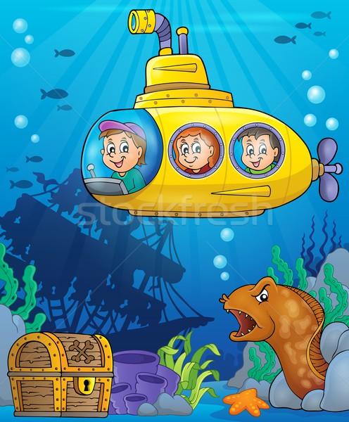Podwodny obraz wody dzieci twarz szczęśliwy Zdjęcia stock © clairev