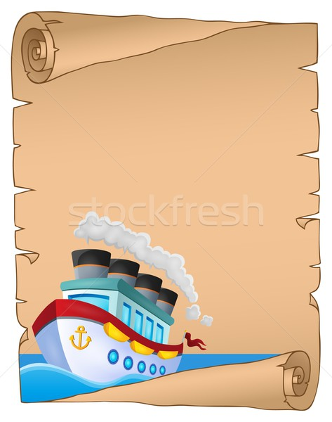 Parchment with nautical ship theme 1 Stock photo © clairev