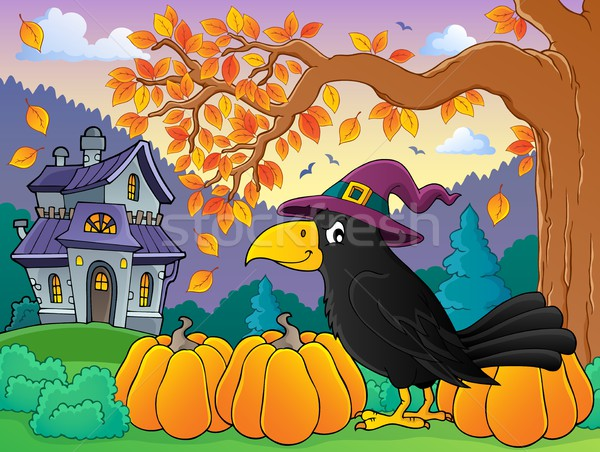 Witch crow theme image 4 Stock photo © clairev