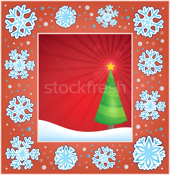 Christmas subject greeting card 2 Stock photo © clairev