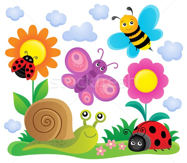 Spring animals and insect theme image 6 Stock photo © clairev