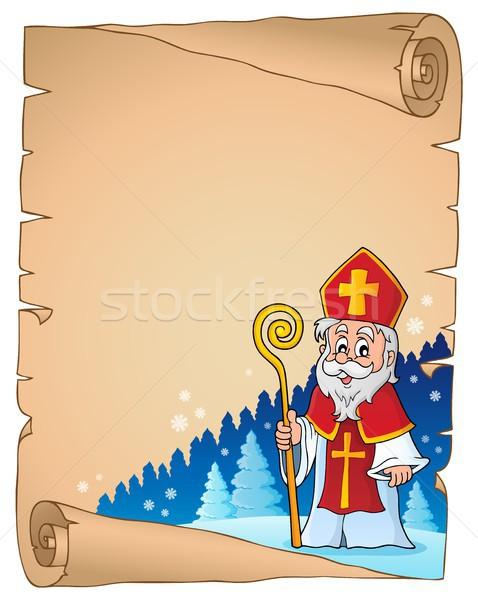 Pergamena carta uomo arte inverno Natale Foto d'archivio © clairev