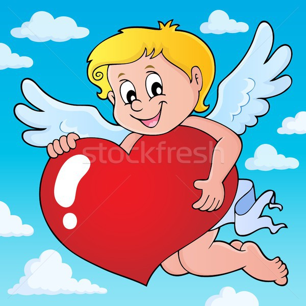 Cupid holding stylized heart image 2 Stock photo © clairev