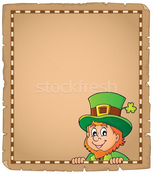 Lurking leprechaun topic parchment 1 Stock photo © clairev