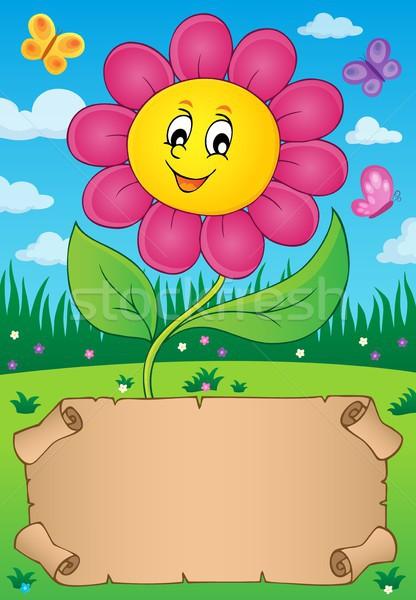 Piccolo pergamena felice fiore carta natura Foto d'archivio © clairev