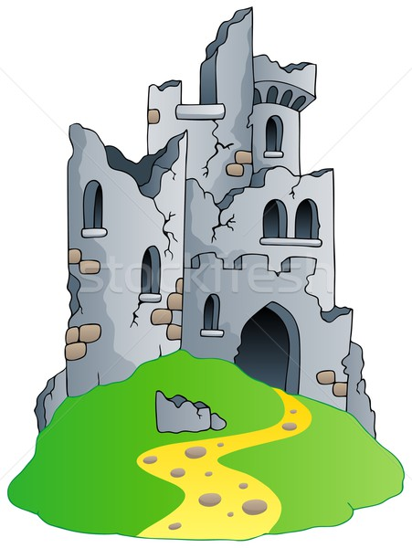 Castle ruins on hill Stock photo © clairev