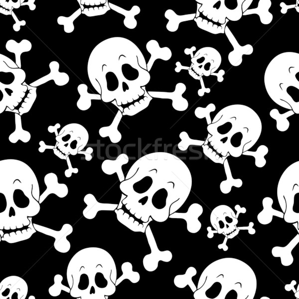 Seamless pirate theme background 1 Stock photo © clairev