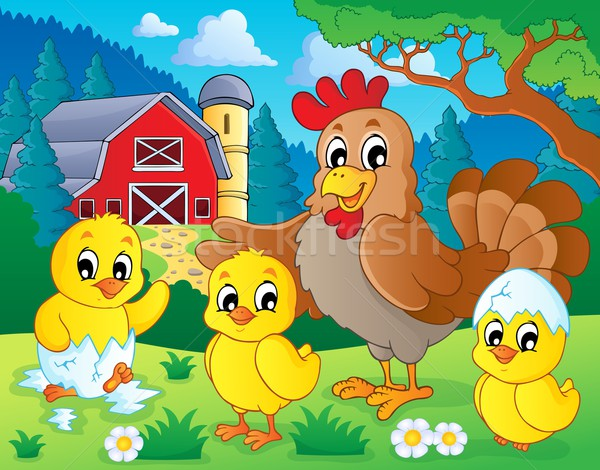 Stock photo: Farm animals theme image 7