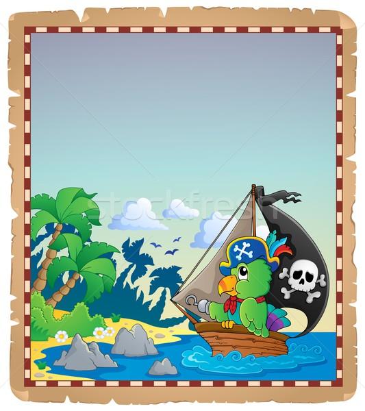 海賊 羊皮紙 水 紙 ツリー 海 ストックフォト © clairev